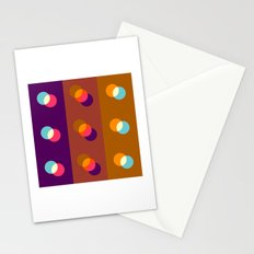 Overlapping circles Stationery Cards