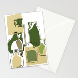 Green bottles Stationery Cards
