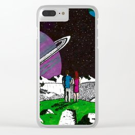 Jumping Universes Clear iPhone Case