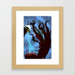 Part 6: Brontosorus Vs. The Giant Land Octopus Framed Art Print