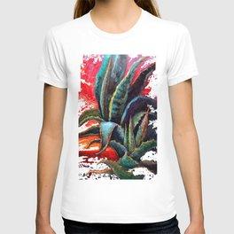 Southwest-western Style Desert Agave in Sunrise T-shirt