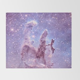 Subtle Space : Pillars of Creation Nebula Throw Blanket