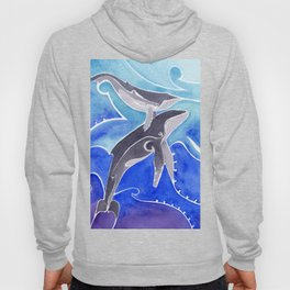 Polynesian humpback whale and calf Hoody