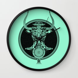 MINOTAUR_GREEN Wall Clock