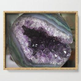 Amethyst Crystal Geode Sphere Serving Tray