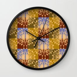 Sun Flower Mandala Wall Clock