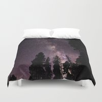 milky way Duvet Covers featuring Milky Way by Holly O'Briant