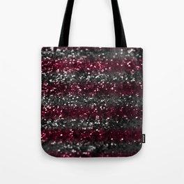 Sparkling RED GRAY Lady Glitter Stripes #1 #decor #art #society6 Tote Bag