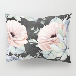 Night Succulents Pillow Sham
