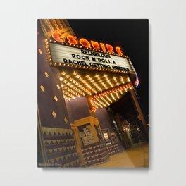 Sidewalk Cinema Metal Print