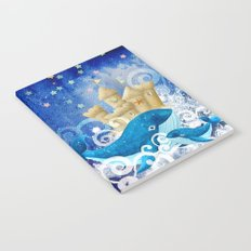 Sandcastle Waves Whales Notebook