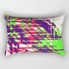 Aesthetic Urban Abstract Visual Art Party Rave Rectangular Pillow