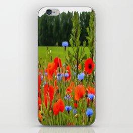 Poppies And Cornflowers iPhone Skin