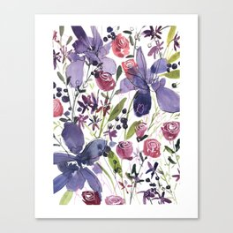 Purple and Red Flowers of July Canvas Print