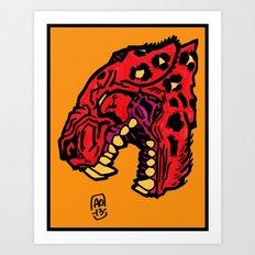 crimson Art Print