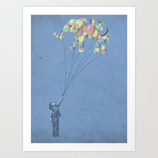 The Lightest Elephant Art Print