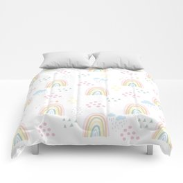 Rainbow kid feelings Comforters