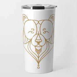 Gold Bear Two Travel Mug