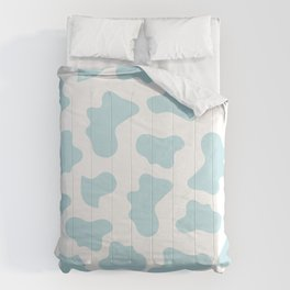 Baby Blue Cow Print Pattern Comforters