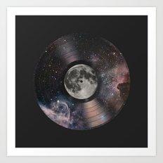 L.P. (Lunar Phonograph) Art Print