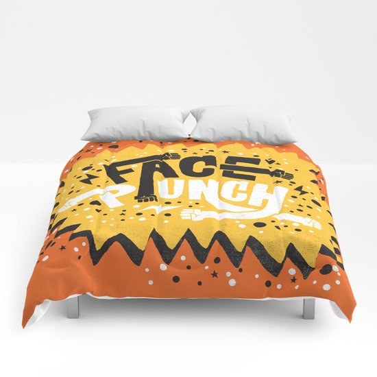 FACE PUNCH Comforters