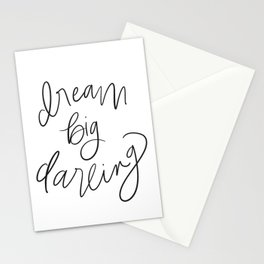Dream Big Darling // in Black and White Stationery Cards