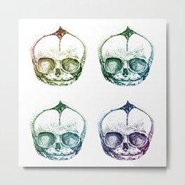 4 Fetal Skulls Metal Print
