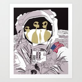 Meet Buzz Aldrin Art Print