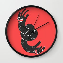 Bunnycat Wall Clock