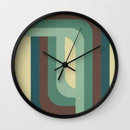 Abstract Retro Stripes Wall Clock