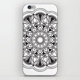 black&white mandala iPhone Skin