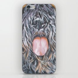 Bouvier Des Flandres dog portrait from an original fine art painting by L.A.Shepard iPhone Skin