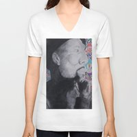 murakami V-neck T-shirts featuring Common Murakami by Jeremy Tolbert (A.M.P. Artwork)