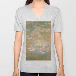 Water Lilies - Claude Monet Unisex V-Neck