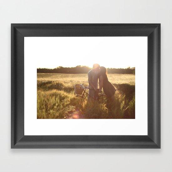Love story. Framed Art Print