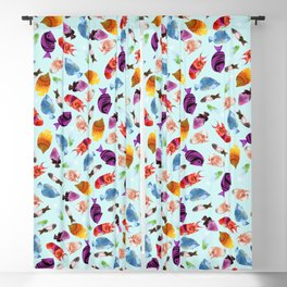 Fish shaped Flowers Blackout Curtain