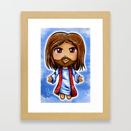 Jesus Christ Chibi Framed Art Print