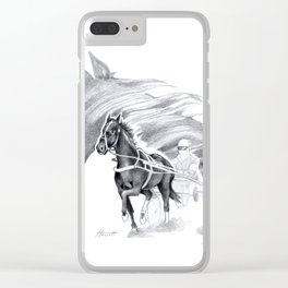 Trotting Up A Storm Clear iPhone Case