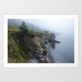 Cliffs and Coves Art Print