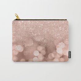 Modern rose gold glitter ombre pink rose gold bokeh sparkles Carry-All Pouch