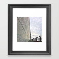 concrete blues Framed Art Print