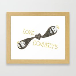 Love Connects Framed Art Print