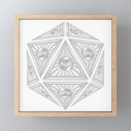 D20 Illuminati Conspiracy Framed Mini Art Print