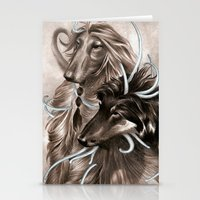 the hound Stationery Cards featuring Hound Dog by Estúdio Marte