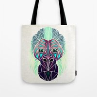 gorilla Tote Bags featuring gorilla by Manoou