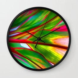 Ti Leaf Special Order Wall Clock