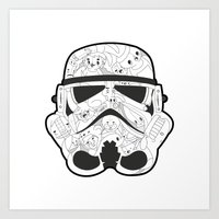 stormtrooper Art Prints featuring Stormtrooper by Santos