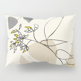 leaves minimal shapes abstract Pillow Sham