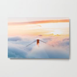 Golden Gate Bridge at Sunrise from Hawk Hill - San Francisco, California Metal Print