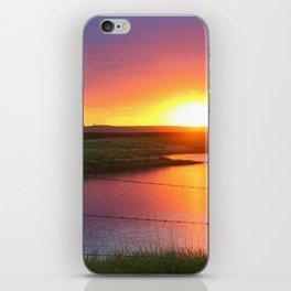 North Dakota Sunset iPhone Skin